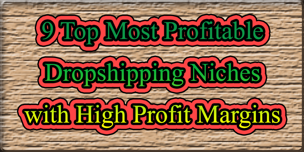 9 Top Most Profitable Dropshipping Niches with High Profit
